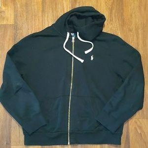 Polo Ralph Lauren black zip up hoodie XL